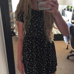 Black dress with little floral designs🌸